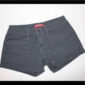 Dark grey UnionBay shorts, front and back pockets